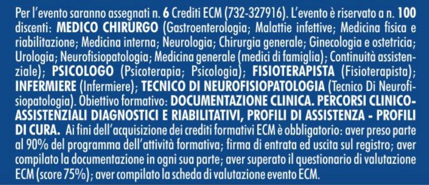 Sclerosi multipla- - Ragusa 9 ottobre 2021 - Crediti ECM